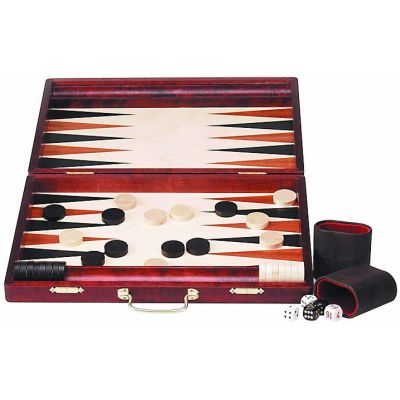 Backgammon bois grand (38,5 x 26,5 cm plié)