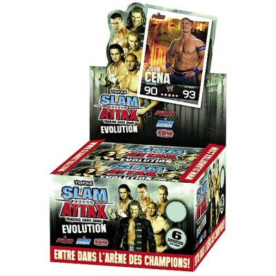Booster topps Evolution Slam Attax trading card game