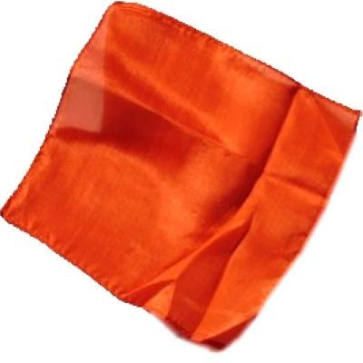 Foulard en soie orange 15 x 15 cm