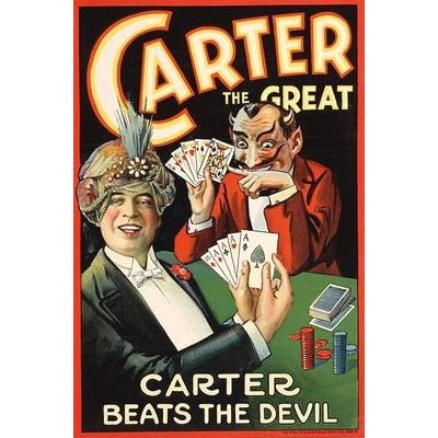"Poster ""Carter beats the devil"""